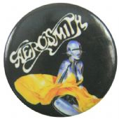 Aerosmith - 'Just Push Play' Button Badge